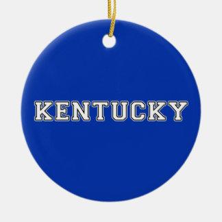 Kentucky Rond Keramisch Ornament