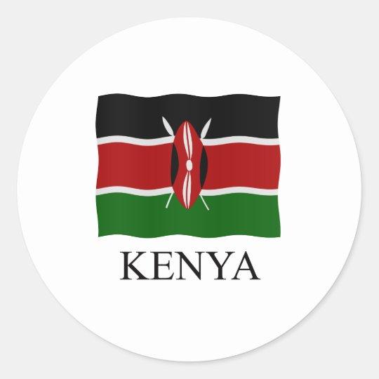 Kenya flag ronde sticker