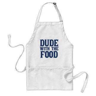 Kerel met het Blauw van het Voedsel Standaard Schort