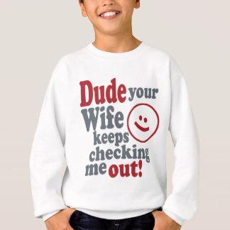 kerel uw vrouw houdt controlerend me trui