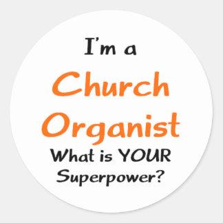 kerk organist ronde sticker