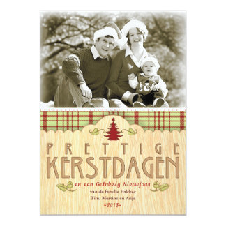 Kerst foto wenskaart 12,7x17,8 uitnodiging kaart