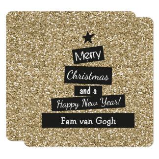 Kerst Glitter en Glamour Kaart
