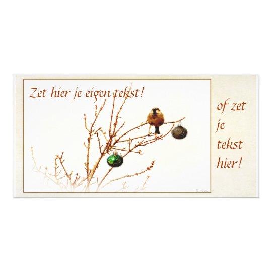 Kerst kaart / Foto kaart - Pas zelf je tekst aan!