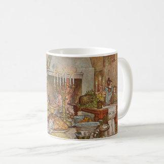 Kerstavond door Carl Larsson, Vintage Vakantie Koffiemok