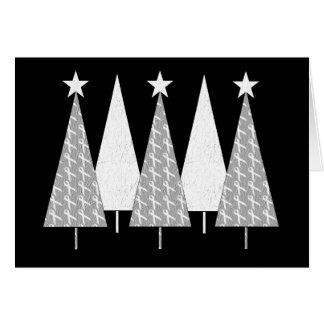 Kerstbomen - Wit Lint Briefkaarten 0