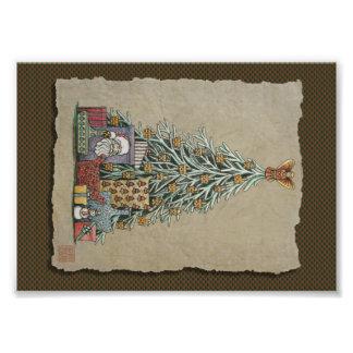 Kerstboom & Cadeaus Foto Afdruk