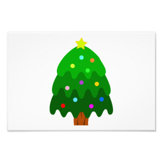 Kerstboom clipart foto prints