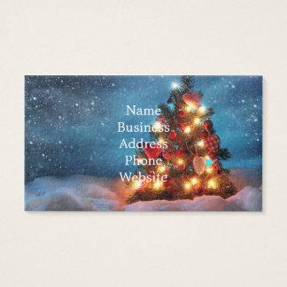 Kerstboom - de decoratie van Kerstmis - Visitekaartjes