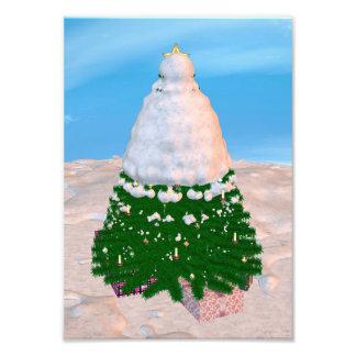 Kerstboom en Cadeaus Foto Afdruk