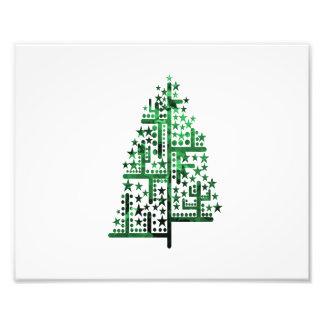Kerstboom groen van gevlekte vormen foto afdruk