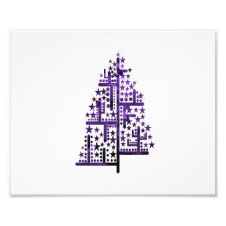 Kerstboom groen van vormen gevlekte purple png fotoafdrukken
