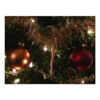Kerstboom II het Riet en het Klatergoud van het Foto Kunst