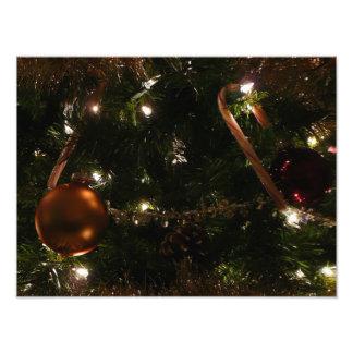 Kerstboom III het Riet en het Ornament van het Fotoafdrukken