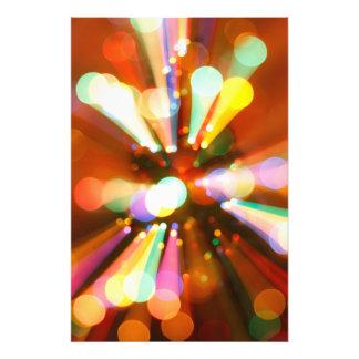 Kerstboom met lichtstralen fotoafdrukken