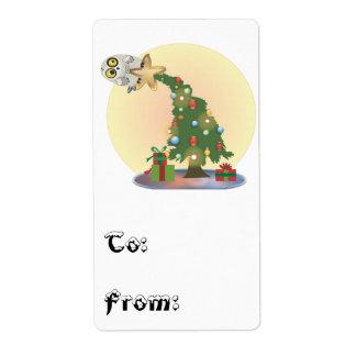 Kerstboom Owl~ aan & van Stickers