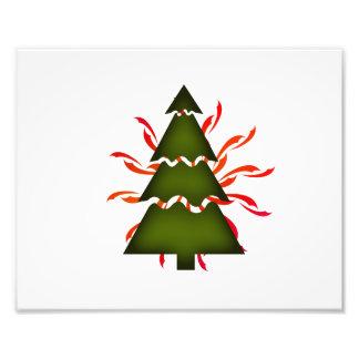 Kerstboom sectioneel met gele golven olive.p fotoprints