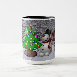 Kerstboom, Sneeuwman, de Mok van Combo van de