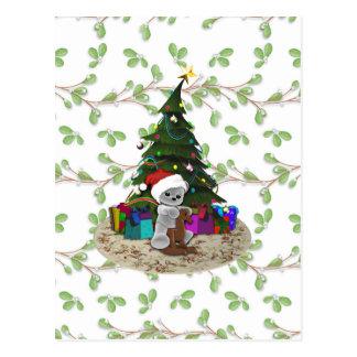 Kerstboom Teddy Briefkaart