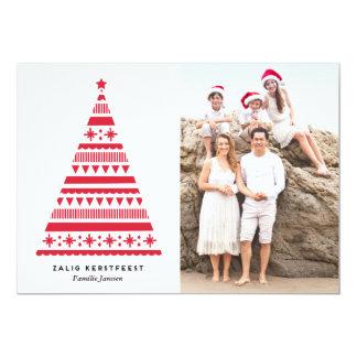 Kerstboom vakantie fotokaart 12,7x17,8 uitnodiging kaart
