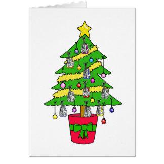 Kerstboom voor agenten, met schoenen worden wenskaart