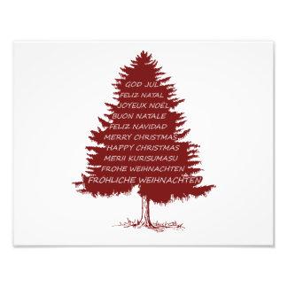 """Kerstboom """"Vrolijke Kerstmis """" Fotoafdrukken"""
