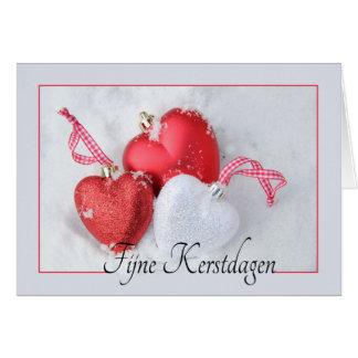 Kerstdagen van Fijne - Nederlandse Kerstmis Briefkaarten 0