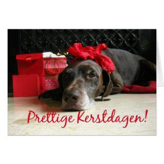 Kerstdagen van Fijne - Nederlandse Kerstmis Kaart