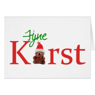 Kerstdagen van Fijne - Nederlandse Kerstmis Wenskaart