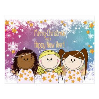Kerstkaart - Engeltjes en Bengeltjes - sprookje Briefkaart