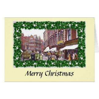 Kerstkaart - Grafton Straat, Dublin Wenskaart