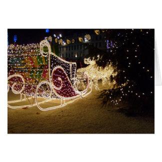 Kerstkaart van de Ar van de kerstman de Openlucht Kaart