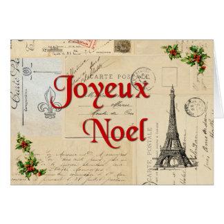 Kerstkaart van de Briefkaarten van Parijs de Wenskaart