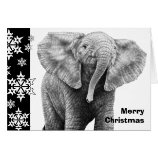 Kerstkaart van de Olifant van het baby de Briefkaarten 0