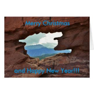 Kerstkaart van de Tweelingen van Colorado Siamese Wenskaart