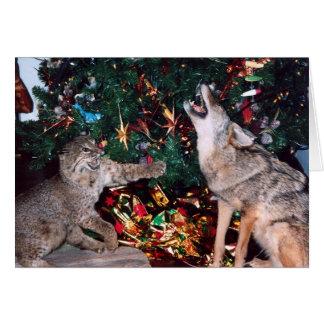 Kerstkaart van het Zuidwesten van de Coyote van Briefkaarten 0