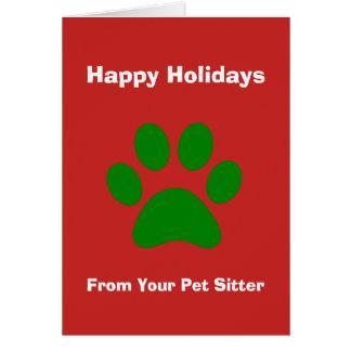 Kerstkaart van Uw Babysitter van het Huisdier Briefkaarten 0