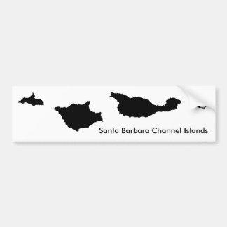 Kerstman Barbara Channel Islands Bumpersticker