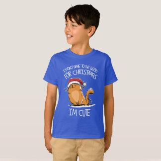 Kerstman ben ik een leuke kat zodat moet ik niet t shirt