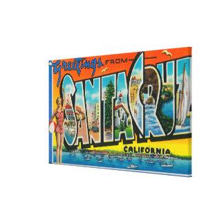 Kerstman Cruz, Californië - Grote Scènes 2 van de  Canvas Afdrukken