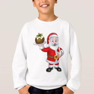 Kerstman die een Pudding van Kerstmis houden Trui