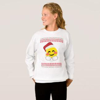 Kerstman, emoji van omhelzingensmiley, lelijke trui
