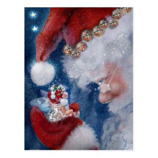Kerstman en het Briefkaart van de Vakantie Faery