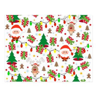 Kerstman en het patroon van Rudolph Briefkaart