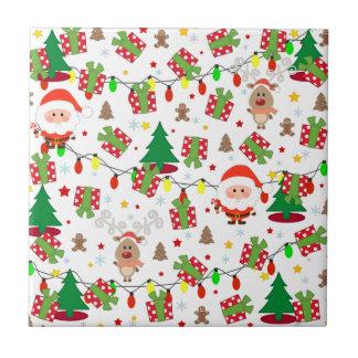 Kerstman en het patroon van Rudolph Tegeltje
