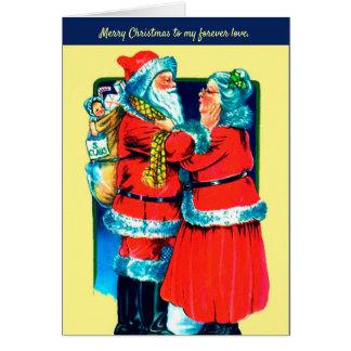 Kerstman en Mevr. Claus Card voor Uw Speciale Kaart