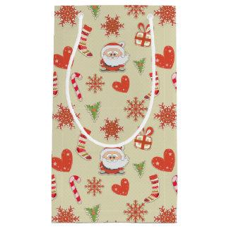 Kerstman en snoepriet - giftzak klein cadeauzakje