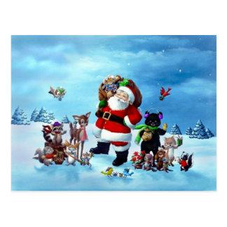 Kerstman en Vrienden Briefkaart