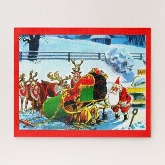 Kerstman en zijn ar puzzel