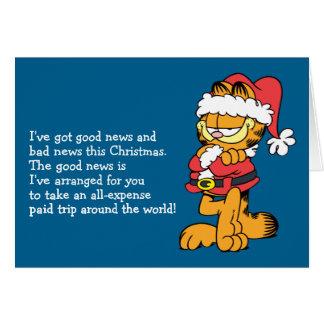 Kerstman Garfield Notitiekaart